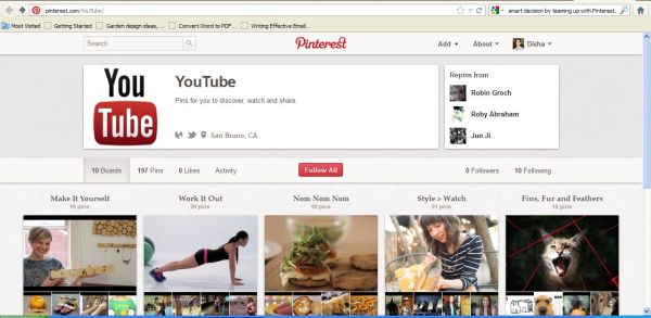 YouTube Videos now on Pinterest
