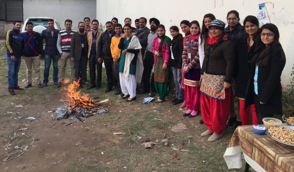 KVRians at Lohri Bonfire