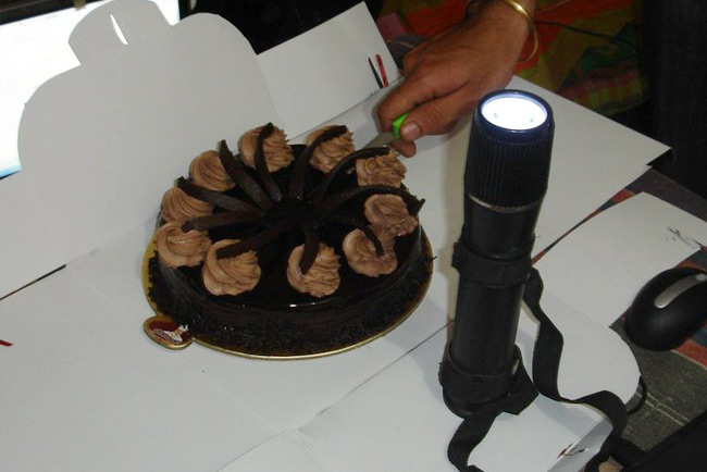 Cake Cutting with Torch - Shows KVRian Creativity