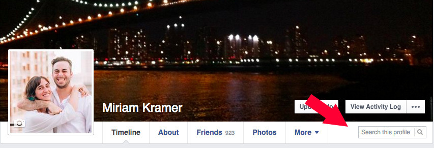 Search This Profile Option in Facebook