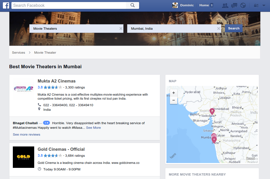 Facebook Local Business Services Example