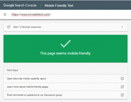 Google New Mobile Friendly Testing Tool