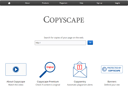 Copyscape Tool to Check Plagiarism