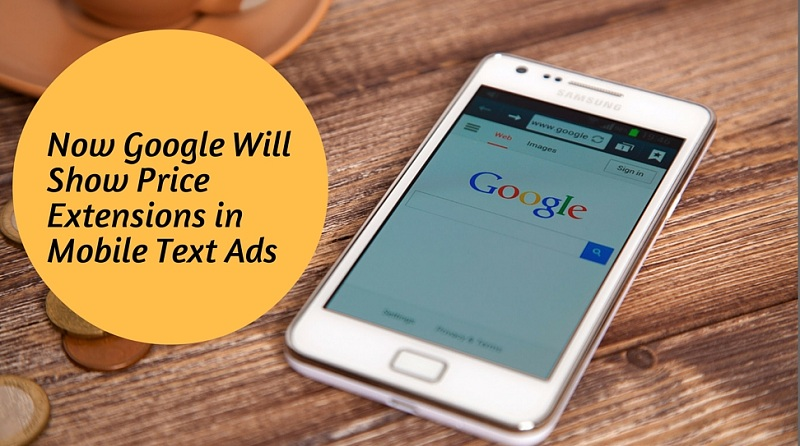 Price Extension for Google's Mobile Text Ads