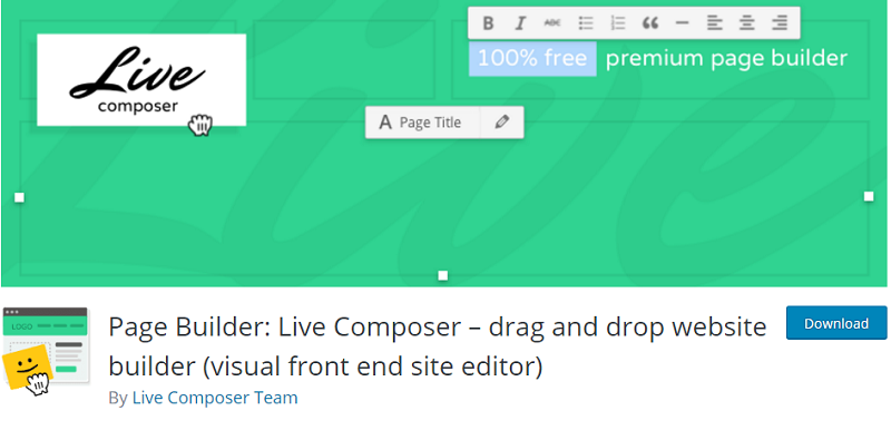 Live Composer Plugin for WordPress