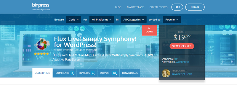 Simply Symphony Plugin for WordPress