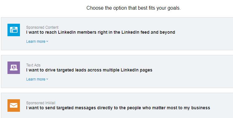 Types of LinkedIn Advertisement