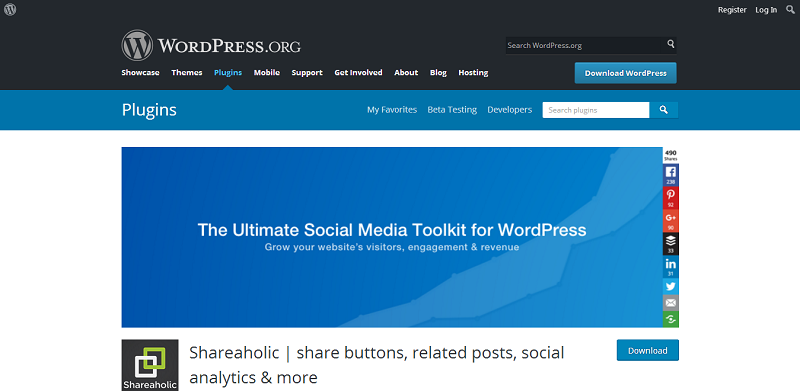 Shareaholic WordPress Plugin