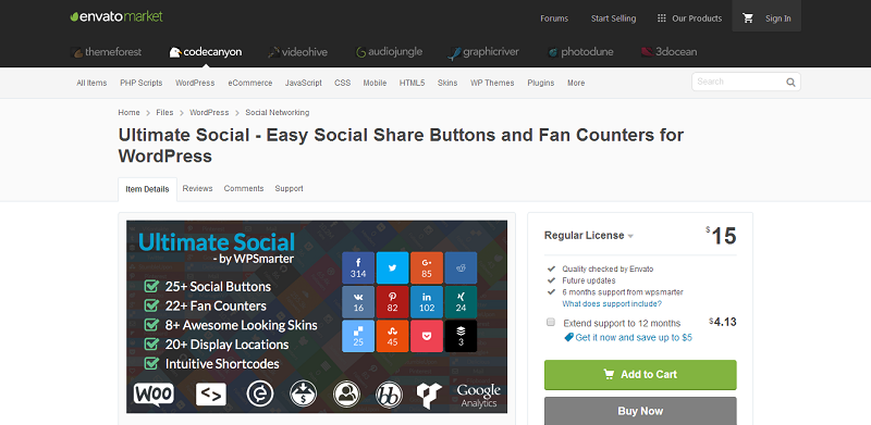 Ultimate Social Plugin For WordPress