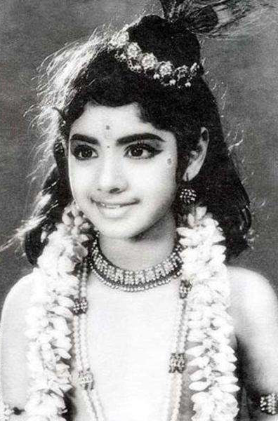 Childhood Pic of Sridevi