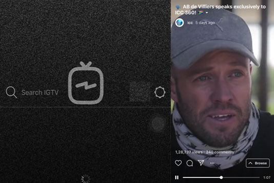 IGTV starts playing as soon as you open up the app
