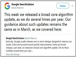 Broad Core Alogrithm Update