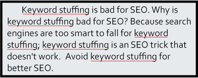 Keyword Stuffing is Bad for SEO