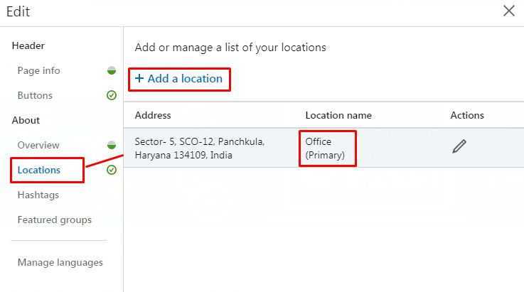 Linkedin Location addition feature