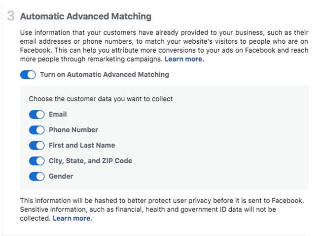 Automatic Advanced Matching