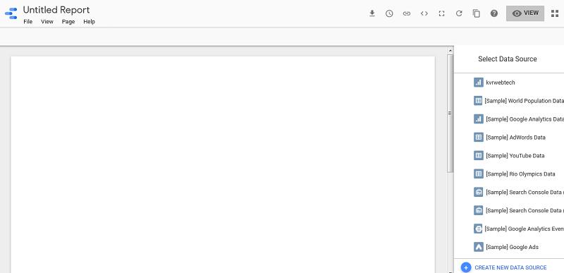 Google Studio Blank Page