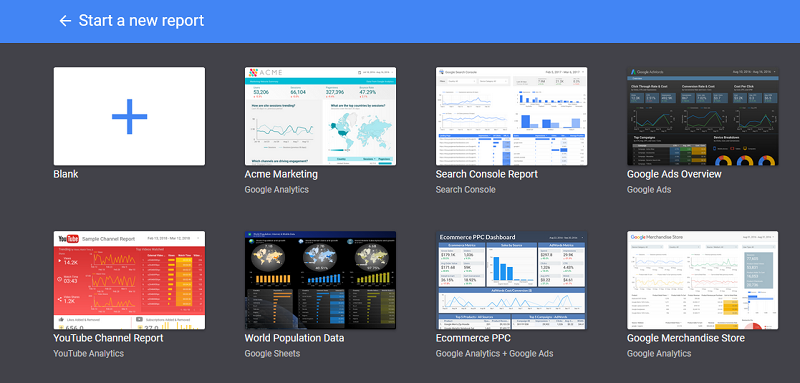 Google Studio Sample Reports