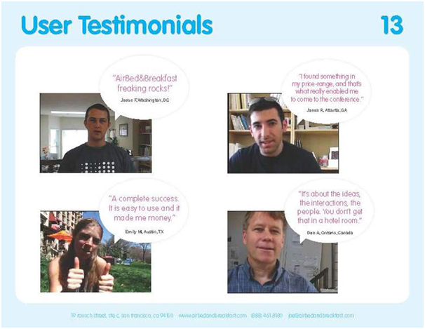 User-testimonials